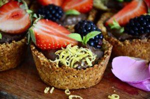 Mini tarte vegane cu ciocolata!