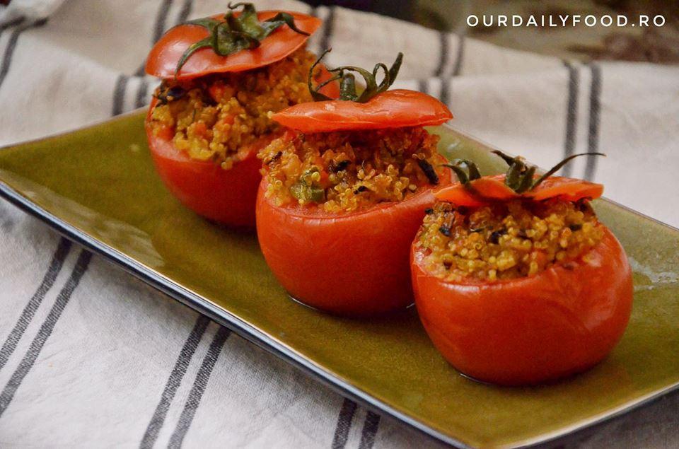 Rosii umplute cu quinoa si legume
