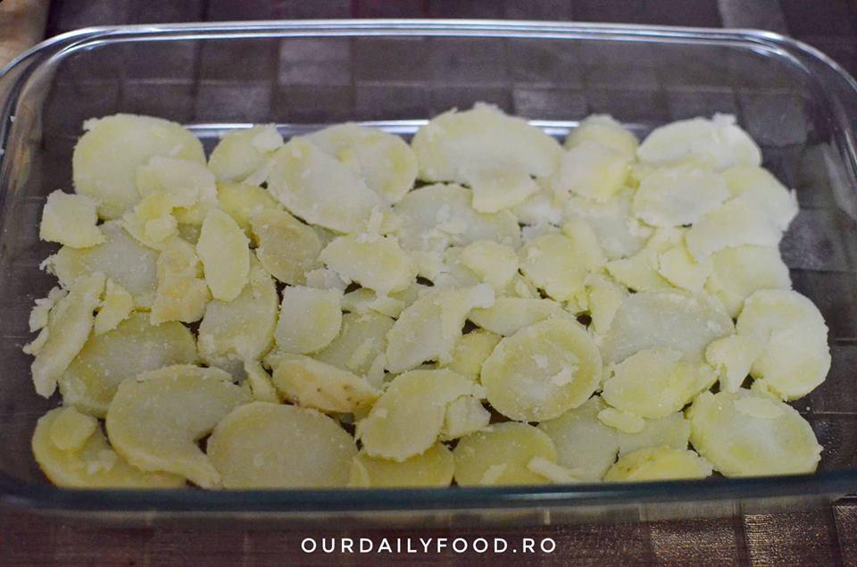 gratin de cartofi si brocoli