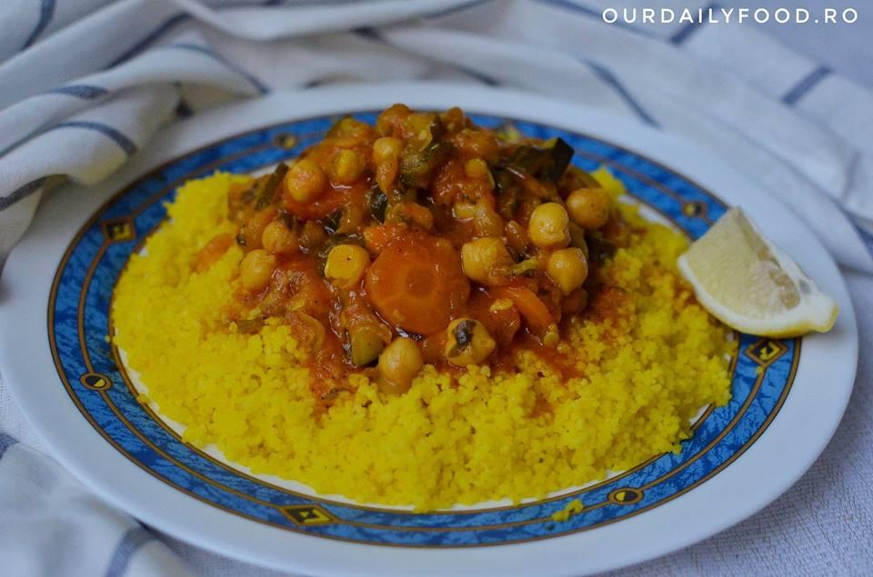 Cous cous/cuscus cu legume in stil marocan