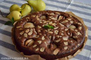 Tort de ciocolata cu pere