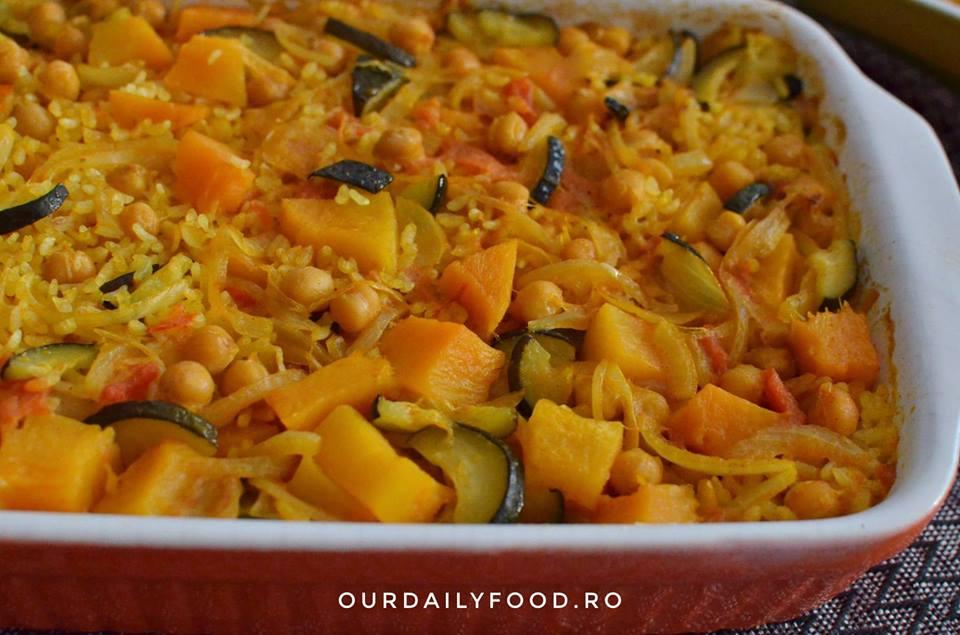 Orez cu legume la cuptor