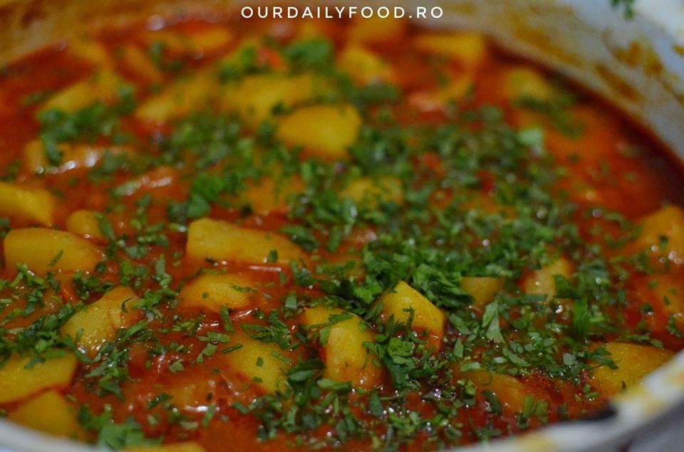 Tocana sau papricas de cartofi - reteta de post