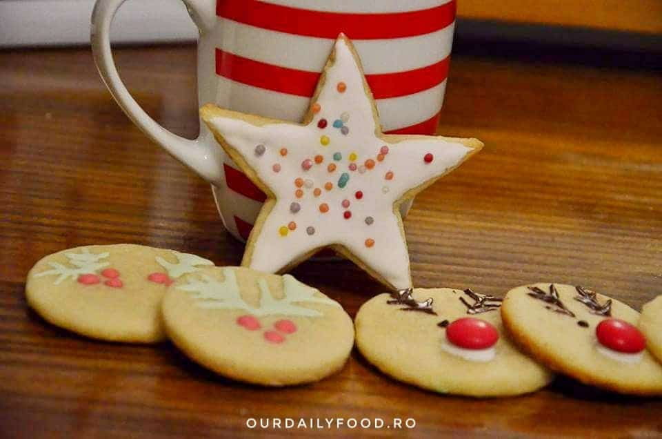 Biscuiti, fursecuri cu unt si zahar/Sugar cookies