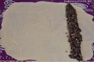 Rulou sau strudel cu ciuperci - de post