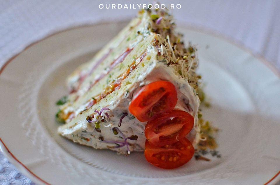 Tort aperitiv de dovlecei
