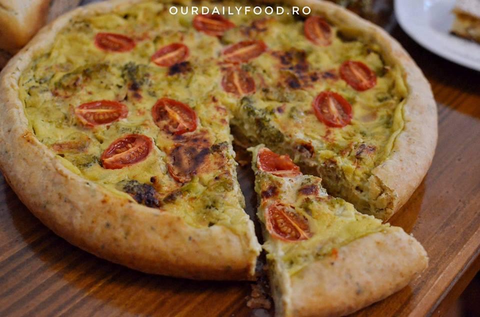 Tarta vegana cu brocoli