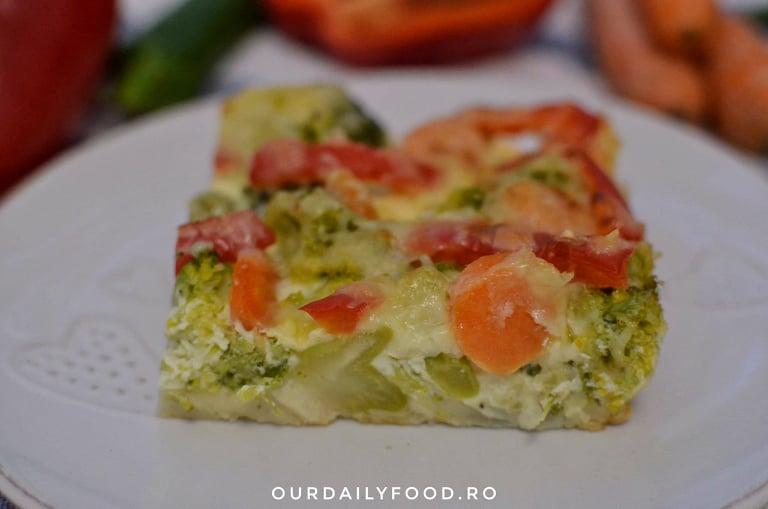 Broccoli gratinat cu legume