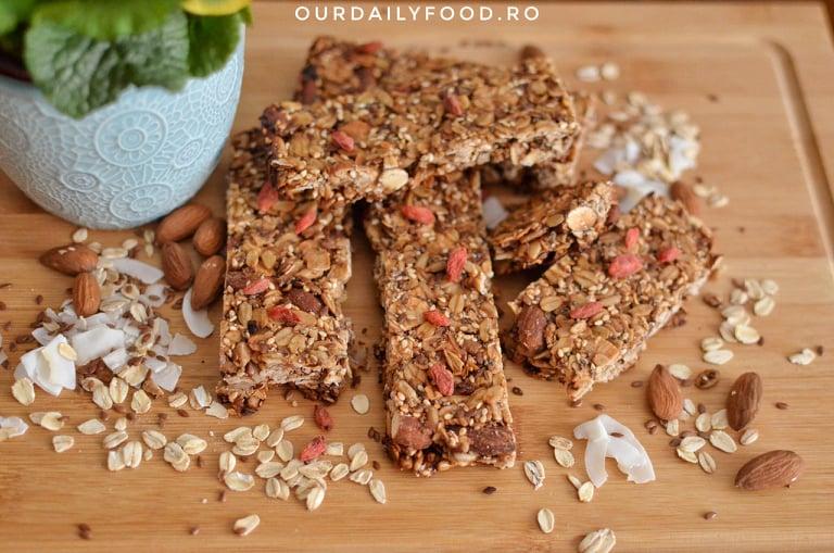 Batoane energetice de cereale sau granola
