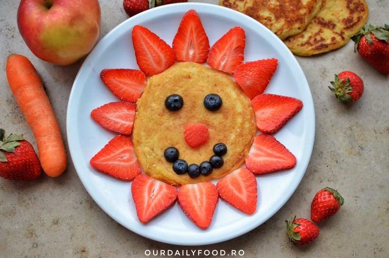 Pancakes cu morcov - reteta vegana