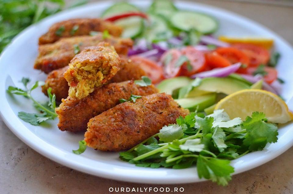 Mici din linte si legume - vegani, fara gluten
